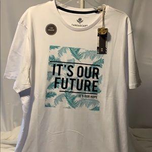"🆕ThreadCare ""It's Our Future"" Organic Tee Sz. XL"